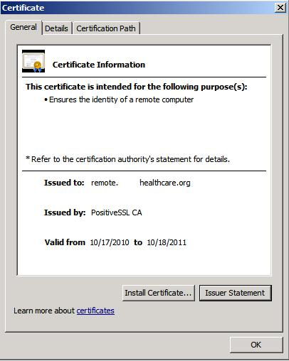Browser Certificate