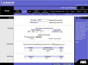 Setup Tab- Network
