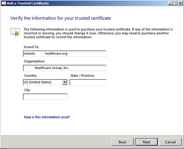 Verify SSL