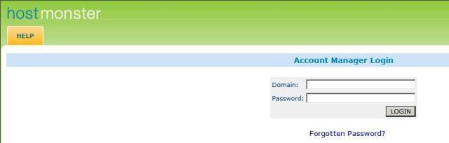 Hostmonster.com Login Page