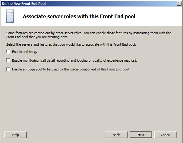 Associated Server Roles