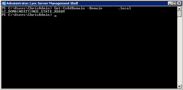 Lync Management Shell