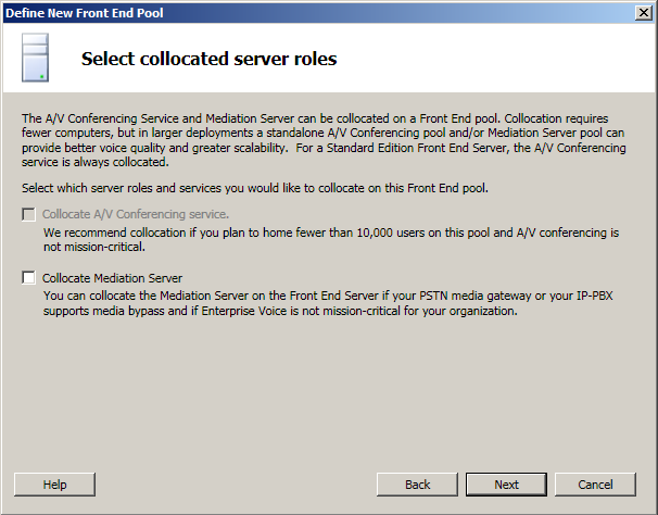 Collocated Server Roles