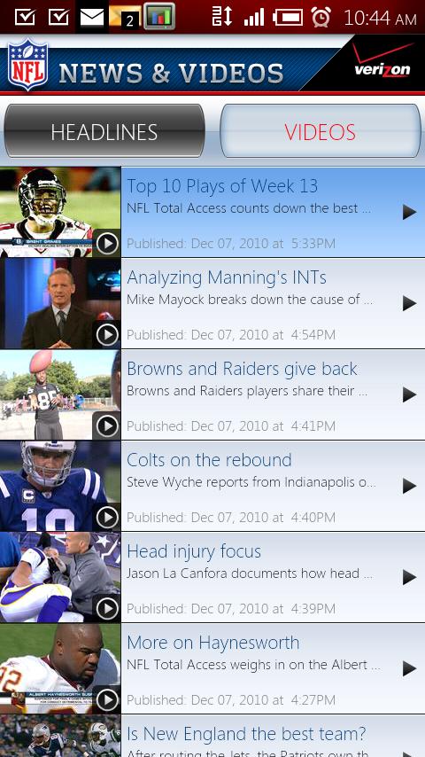 NFL Mobile Live