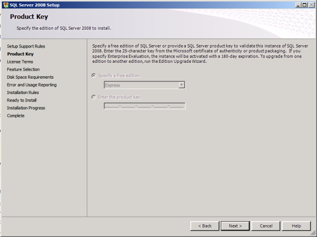 SQL Product Key