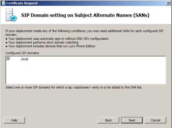SIP Domain
