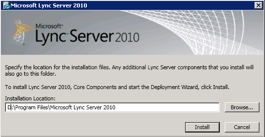 Lync Server Install