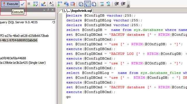 Execute Script