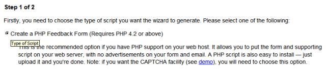 PHP Feedback Form